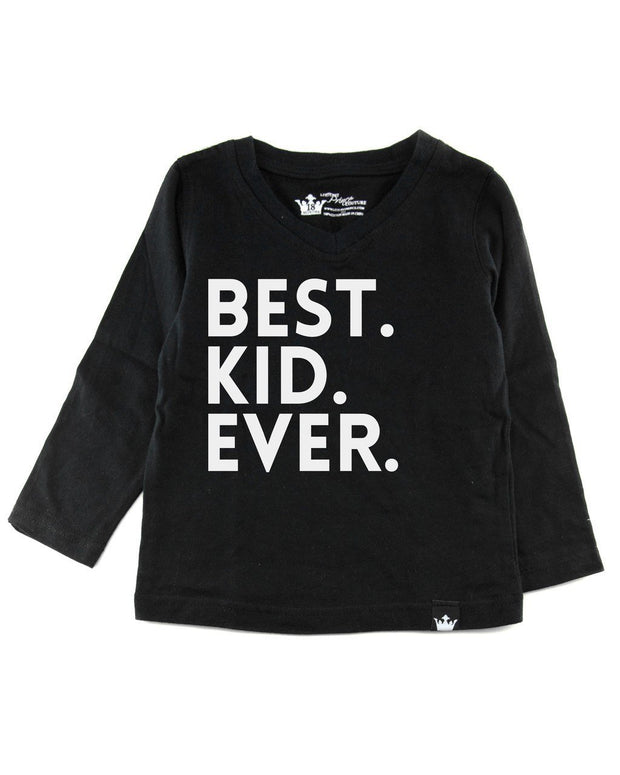 Best Kid Ever Long Sleeve Black Tee