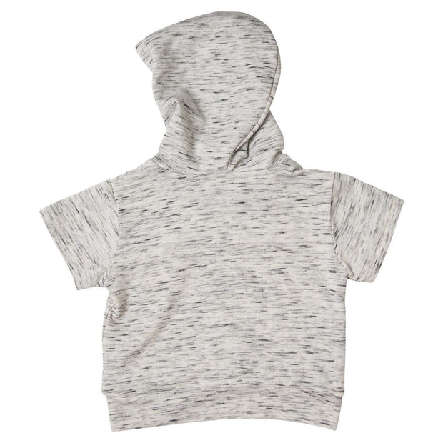 Gray French Terry Asymmetrical Zip Up Hoodie