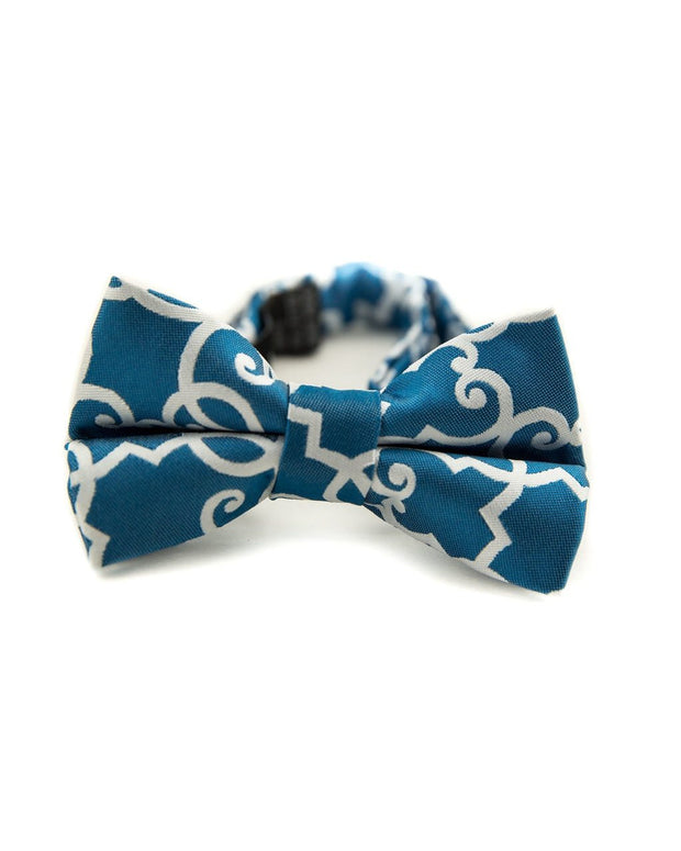 Prussian Blue Lattice Bow Tie (Boys and Men)