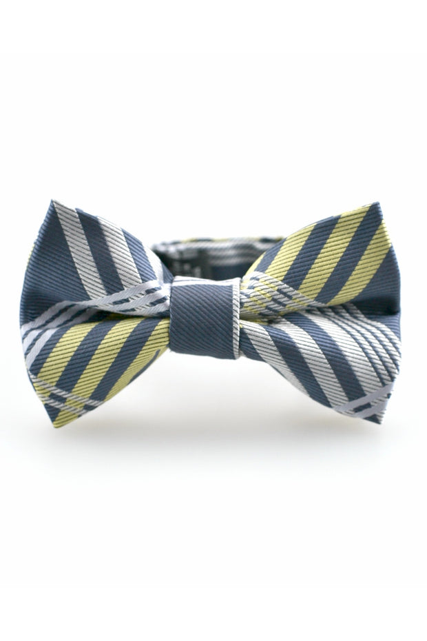 Graphite and Lemon Plaid Tie