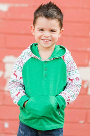 Green Nordic Hooded Raglan Shirt