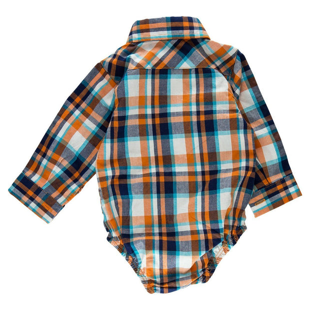 Plaid Long Sleeve Dress Shirt