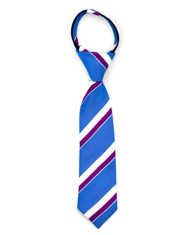 Indigo and Berry Stripe Zipper Tie