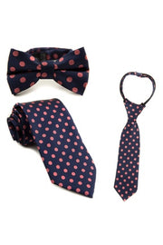 Indigo and Rose Dot Tie