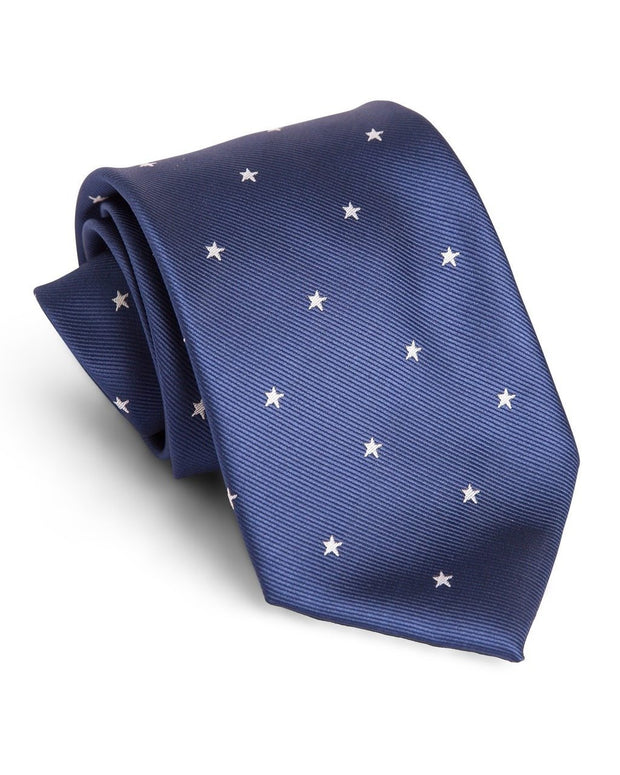 Navy Stars Standard Necktie (Adult and Youth)
