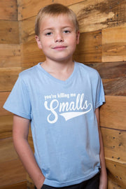You're Killing Me Smalls Baby Blue V-Neck Tee