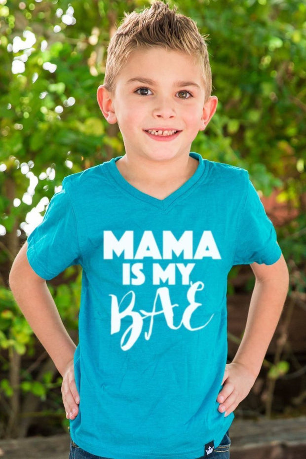 Mama is My BAE Peacock V-Neck Tee