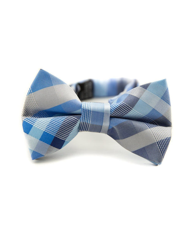 Baby Blue Plaid Bow Tie (Boys and Men)