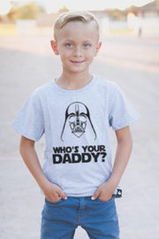 Who's Your Daddy Gray Crew Tee