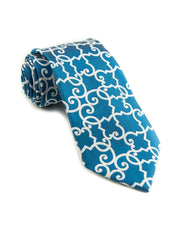 Prussian Blue Lattice Standard Necktie (Adult and Youth)