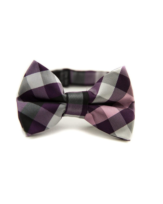 Boysenberry Check Bow Tie (Boys and Men)