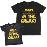 Best Kid In the Galaxy Black Crew Neck Tee