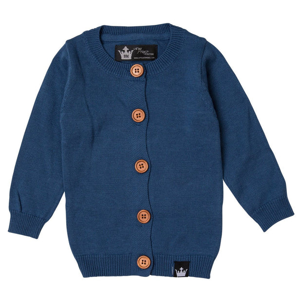Navy Cardigan Sweater & T-Shirt | 2 Piece Set