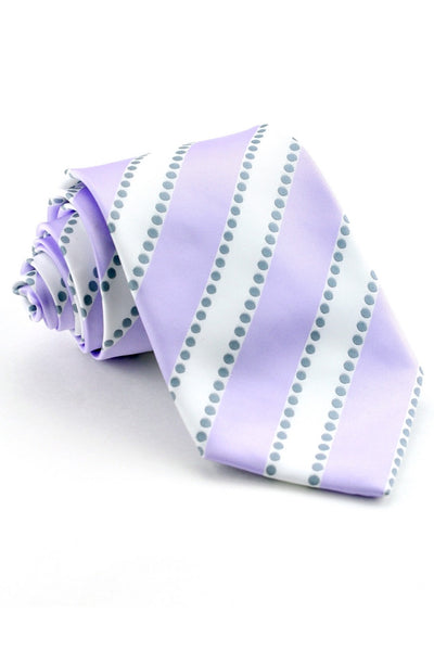 Lavender and White Stripe Tie