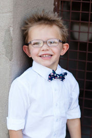 Blush and Navy Floral Bow Tie (Boys and Men)