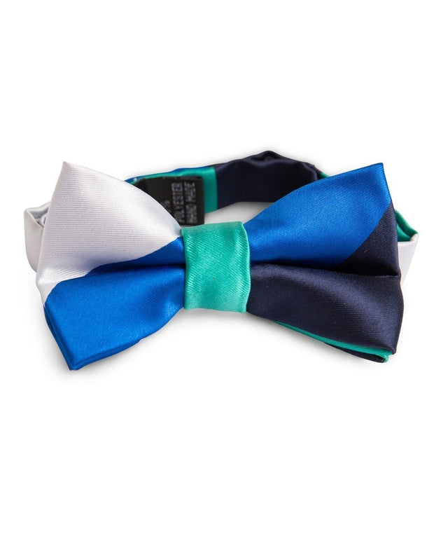 Royal and Emerald Stripe Bow Tie (Boys and Men)