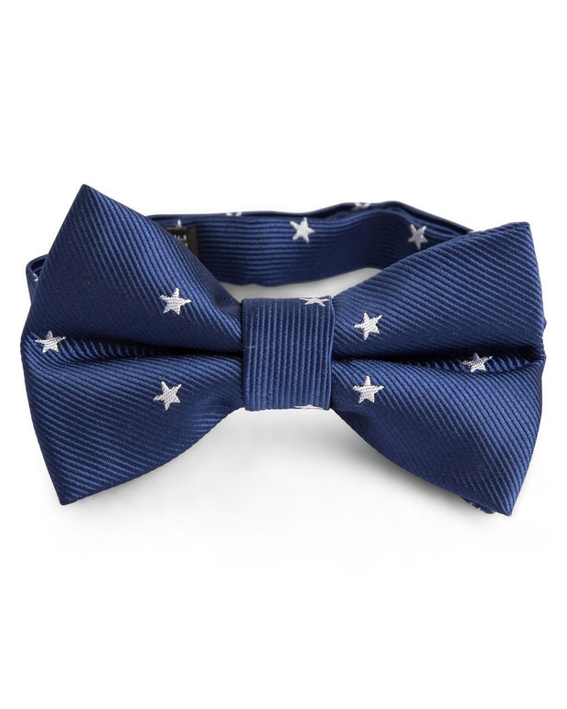 Navy Stars Bow Tie (Boys and Men)
