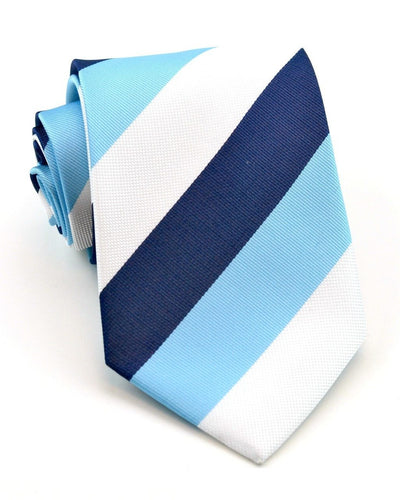 Midnight and Baby Blue Stripe Standard Necktie