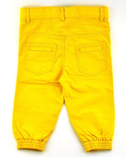 Mustard Canvas Moto Pants