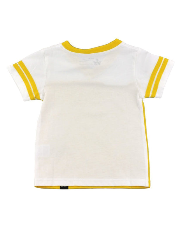 Mustard and White Jersey T-Shirt
