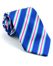 Navy and Hot Pink Stripe Standard Necktie