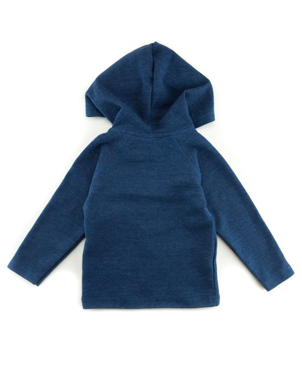 Navy Thermal Hoodie Shirt