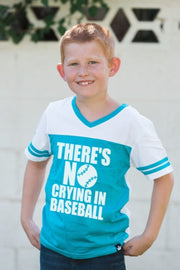 No Crying In Baseball Peacock Jersey Tee