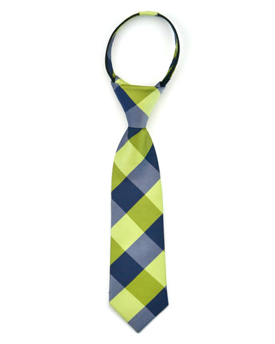 Olive and Navy Check Tie