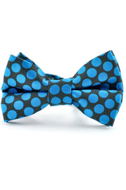 Onyx and Azure Dots Tie