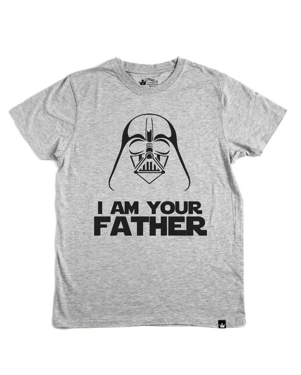 I Am Your Father Gray Crew Neck Dad Tee