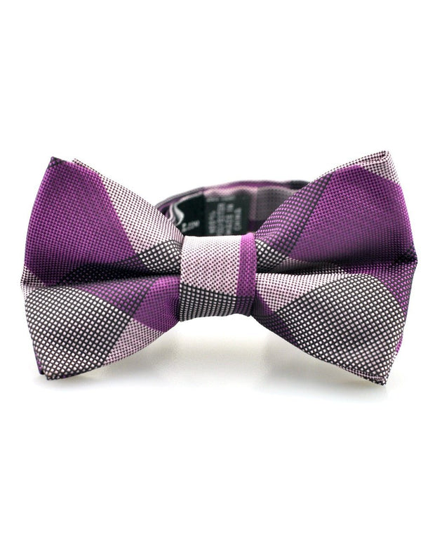 Plum Check Bow Tie (Boys and Men)