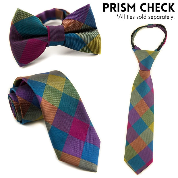 Prism Check Zipper Tie (Boys and Men)