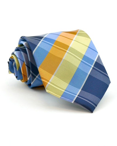 Pumpkin and Blue Plaid Full Size Tie