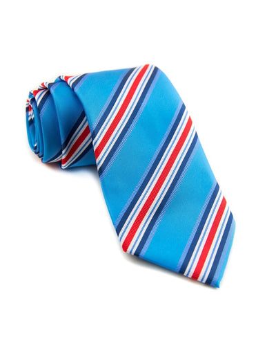 Tropical Punch Stripe Standard Necktie (Adult and Youth)