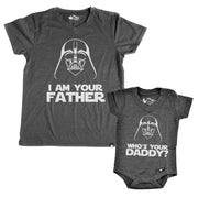 I Am Your Father Graphite V-Neck Dad Tee