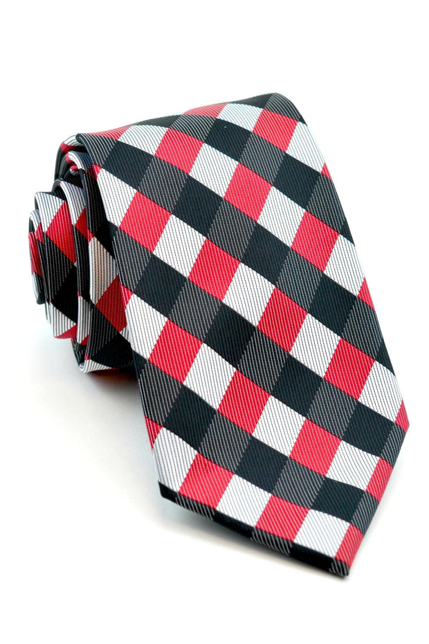Red and Black Check Tie