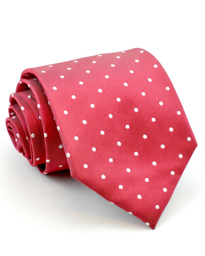 Red and White Dots Tie