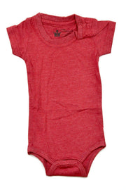 Red Crew Neck Bodysuit