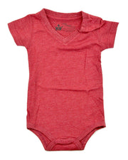 Red V-Neck Bodysuit