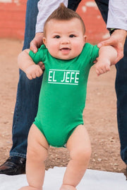 El Jefe Green Crew Neck Bodysuit