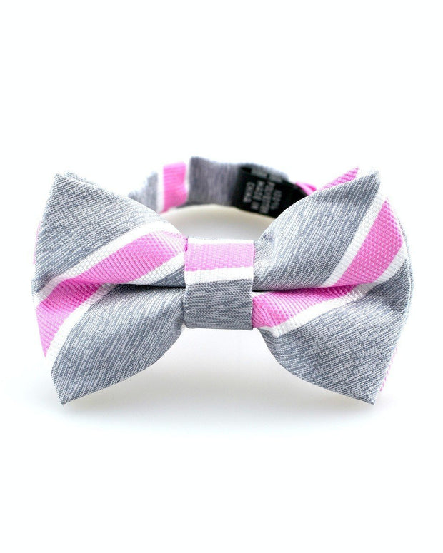 Rose and Slate Stripe Bow Tie (Boys and Men)