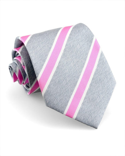 Rose and Slate Stripe Standard Necktie