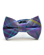 Royal Purple and Yellow Plaid Bow Tie (Boys and Men)