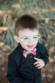 Ruby and Peppermint Stripe Bow Tie (Boys and Men)