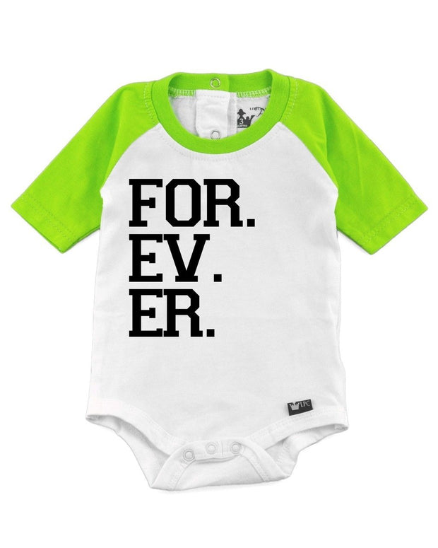For. Ev. Er. Lime Half Sleeve Raglan Bodysuit