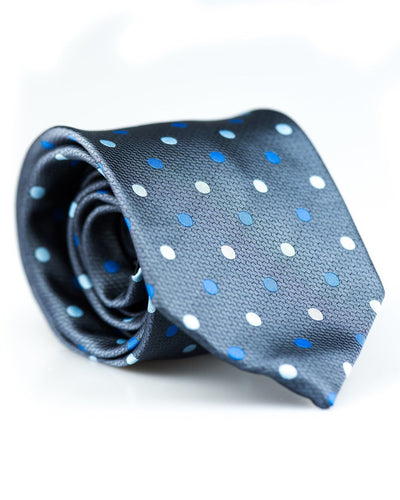 Shades of Blue Dots Standard Necktie