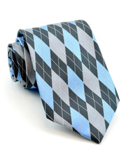 Sky and Gray Argyle Standard Necktie
