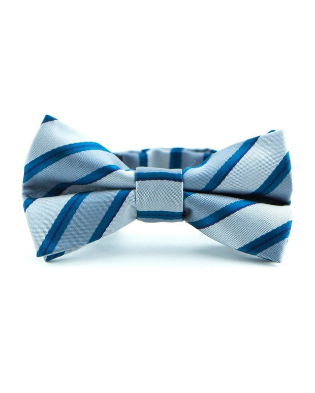 Smoke and Ocean Stripe Bow Tie (Boys and Men)