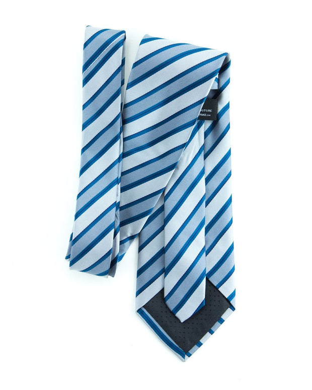 Smoke and Ocean Stripe Standard Necktie (Adult and Youth)