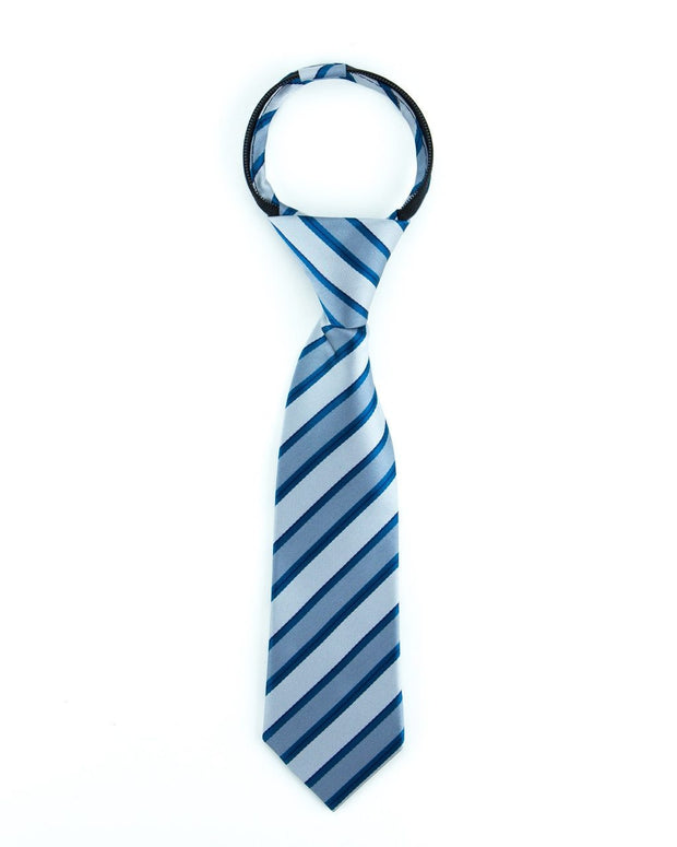 Smoke and Ocean Stripe Zipper Tie (Boys and Men)